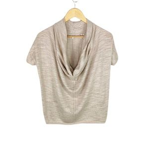 Anthropologie Knitted & Knotted Cowl Neck Sweater